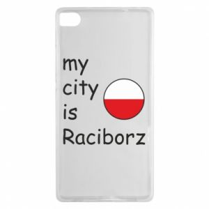 Etui na Huawei P8 My city is Raciborz