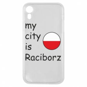 Etui na iPhone XR My city is Raciborz