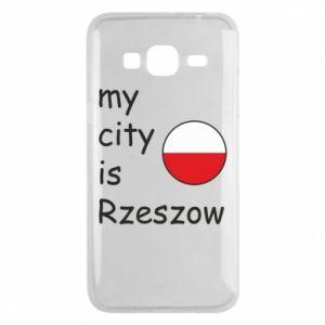 Etui na Samsung J3 2016 My city is Rzeszow