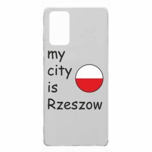 Samsung Note 20 Case My city is Rzeszow