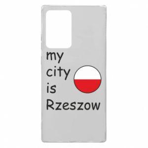Samsung Note 20 Ultra Case My city is Rzeszow
