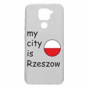 Xiaomi Redmi Note 9 / Redmi 10X case % print% My city is Rzeszow