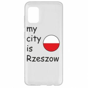 Samsung A31 Case My city is Rzeszow