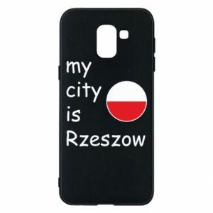 Samsung J6 Case My city is Rzeszow
