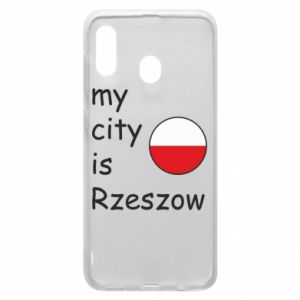 Etui na Samsung A30 My city is Rzeszow