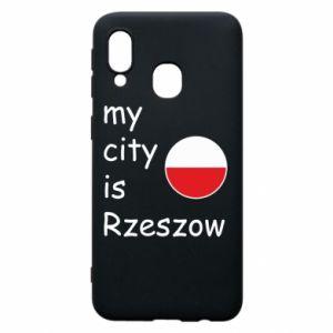 Etui na Samsung A40 My city is Rzeszow