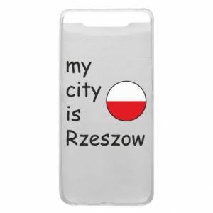 Etui na Samsung A80 My city is Rzeszow