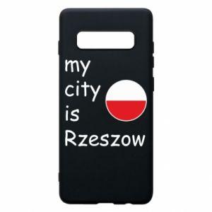 Etui na Samsung S10+ My city is Rzeszow