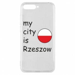 Etui na Huawei Y6 2018 My city is Rzeszow