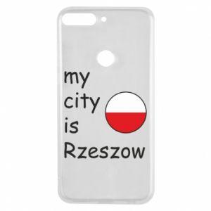 Etui na Huawei Y7 Prime 2018 My city is Rzeszow