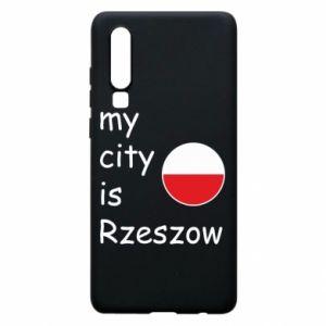Huawei P30 Case My city is Rzeszow
