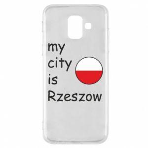 Etui na Samsung A6 2018 My city is Rzeszow