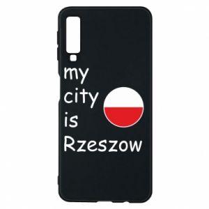 Etui na Samsung A7 2018 My city is Rzeszow