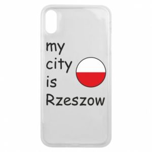 Etui na iPhone Xs Max My city is Rzeszow