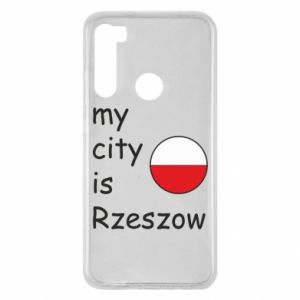 Xiaomi Redmi Note 8 Case My city is Rzeszow