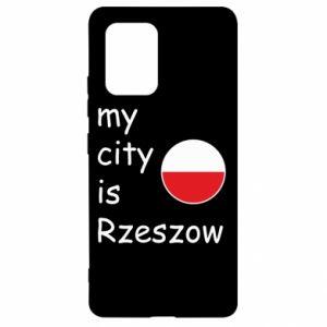 Samsung S10 Lite Case My city is Rzeszow