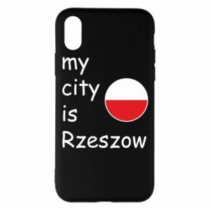 Etui na iPhone X/Xs My city is Rzeszow