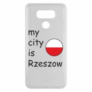 LG G6 Case My city is Rzeszow