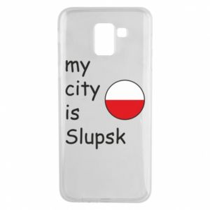 Etui na Samsung J6 My city is Slupsk
