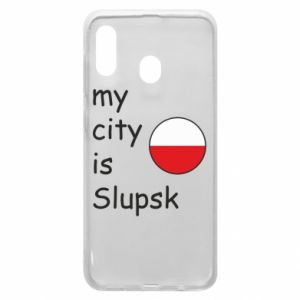 Etui na Samsung A20 My city is Slupsk