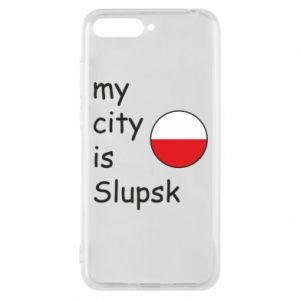 Etui na Huawei Y6 2018 My city is Slupsk