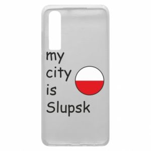 Etui na Huawei P30 My city is Slupsk
