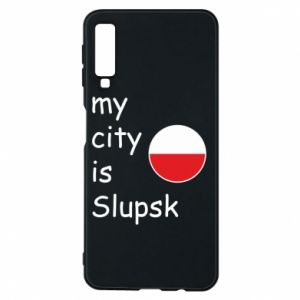 Etui na Samsung A7 2018 My city is Slupsk