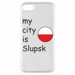 Etui na iPhone 8 My city is Slupsk