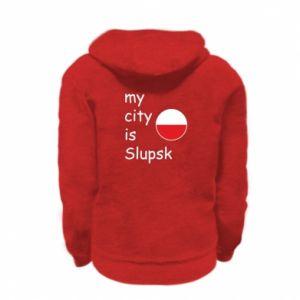 Kid's zipped hoodie % print% My city is Slupsk