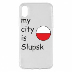 Etui na iPhone X/Xs My city is Slupsk