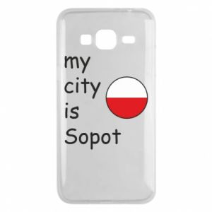 Etui na Samsung J3 2016 My city is Sopot