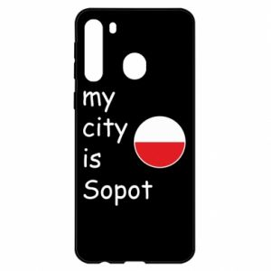 Etui na Samsung A21 My city is Sopot