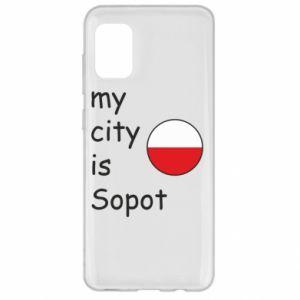 Etui na Samsung A31 My city is Sopot