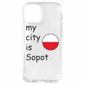 Etui na iPhone 12 Mini My city is Sopot
