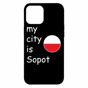 Etui na iPhone 12 Pro Max My city is Sopot