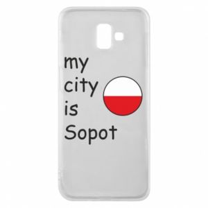 Etui na Samsung J6 Plus 2018 My city is Sopot