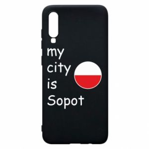 Etui na Samsung A70 My city is Sopot