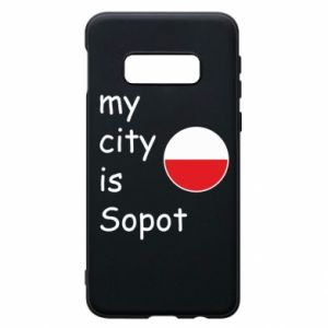 Etui na Samsung S10e My city is Sopot