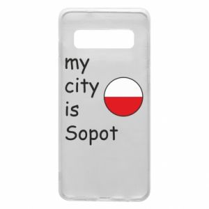 Etui na Samsung S10 My city is Sopot