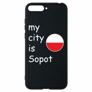 Etui na Huawei Y6 2018 My city is Sopot