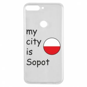 Etui na Huawei Y7 Prime 2018 My city is Sopot