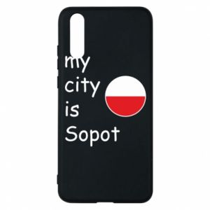 Etui na Huawei P20 My city is Sopot
