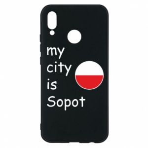 Etui na Huawei P20 Lite My city is Sopot