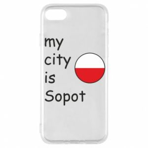 Etui na iPhone 7 My city is Sopot