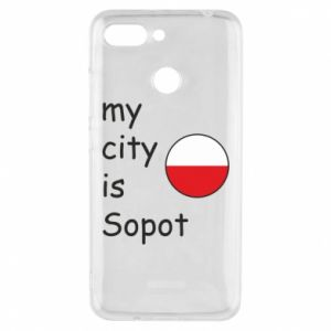 Etui na Xiaomi Redmi 6 My city is Sopot