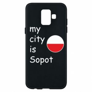Etui na Samsung A6 2018 My city is Sopot