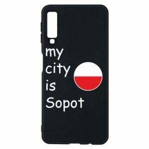 Etui na Samsung A7 2018 My city is Sopot
