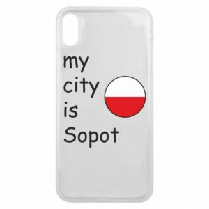 Etui na iPhone Xs Max My city is Sopot
