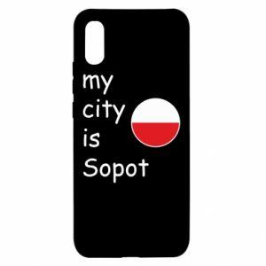 Xiaomi Redmi 9a Case My city is Sopot