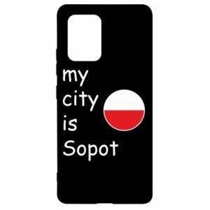 Samsung S10 Lite Case My city is Sopot